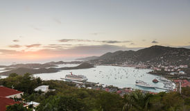Free Sunset Over Charlotte Amalie St Thomas Stock Image - 29450511