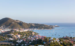 Sunset over Charlotte Amalie St Thomas Stock Images