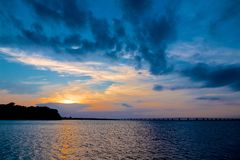 Sunset Over Chesapeake Bay Maryland Stock Images