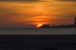 Sunset over Chesterman Beach Royalty Free Stock Photography