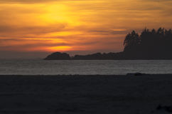 Sunset over Chesterman Beach Royalty Free Stock Photo