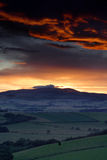 Sunset over the Cheviot Hills Stock Photos