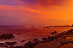 Sunset over China Sea Royalty Free Stock Images