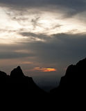 Sunset over Chisos Basin Royalty Free Stock Photo