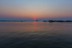 Sunset over the Chobe River Stock Photos
