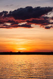 Sunset over Chobe River, Botswana Royalty Free Stock Image
