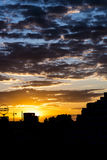 Sunset over the city of Berlin Germany. Royalty Free Stock Image