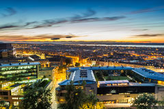 Sunset over the city of Edinburgh Royalty Free Stock Photography