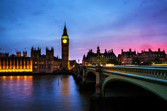 Sunset over the city of London, UK Stock Photo