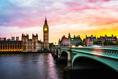 Sunset over the city of London, UK Royalty Free Stock Image