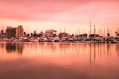 Sunset over the city of San Diego California royalty free stock photography