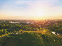 Sunset over the City. Sunset over the Sosnowiec, Poland Royalty Free Stock Image
