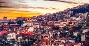 Sunset over the city Royalty Free Stock Image