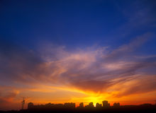 Sunset. Sunset over a city. Useful as background for your projects Royalty Free Stock Image