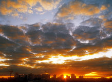 Sunset. Sunset over a city. Useful as background for your projects Royalty Free Stock Photo