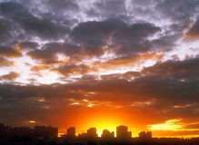 Sunset. Sunset over a city. Useful as background for your projects Royalty Free Stock Photography