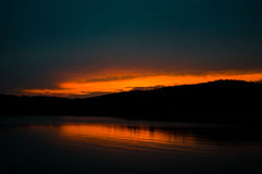 Sunset over Clemson. Sunset in Clemson SC over lake Hartwell Stock Photos
