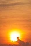 Sunset over the cloud Stock Photography