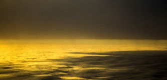 Sunset over the clouds Royalty Free Stock Photography