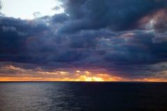Sunset Over a Cloudy Atlantic Stock Photos