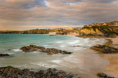 Sunset over the Coast of Cornwall Stock Image