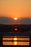 Sunset over Colorado river Royalty Free Stock Image