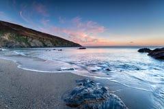 Sunset over the Cornish Coast Stock Image