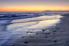Sunset over Costa del Sol, Malaga, Spain Stock Photography