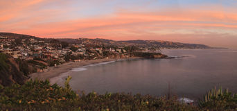 Sunset over Crescent Bay in Laguna Beach Royalty Free Stock Image