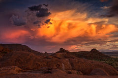 Sunset over Damaraland Royalty Free Stock Images
