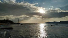 Sunset over the Dardanelles royalty free stock photography
