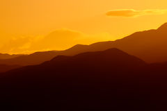 Sunset over Death Valley royalty free stock images