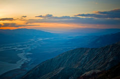 Sunset over Death Valley Royalty Free Stock Photography
