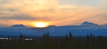 Sunset over Denali Stock Image