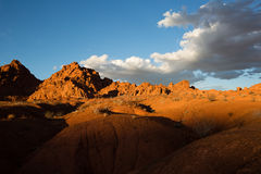 Sunset over the desert in the valley of fire nevada usa Royalty Free Stock Photos