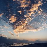 Sunset over Destin beach Stock Image