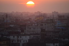 Sunset over Dhaka, Bangladesh Stock Image