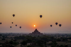 Sunset over Dhammayangyi Temple in Bagan, Myanmar Stock Photography