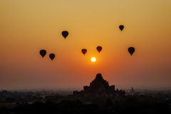 Sunset over Dhammayangyi Temple in Bagan, Myanmar Stock Image