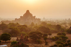 Sunset over Dhammayangyi Temple in Bagan, Myanmar Royalty Free Stock Photography