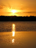 Sunset over Ding Darling Wildlife Refuge, Sanibel, Florida stock photography
