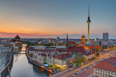 Sunset over downtown Berlin Royalty Free Stock Image