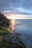 Sunset over Dublin bay Stock Photo