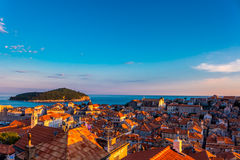 Sunset over Dubrovnik, Croatia Stock Image