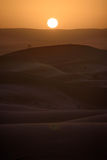 Sunset over the dunes, Morocco, Sahara Desert Stock Images