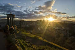 Sunset over Edinburgh Stock Images