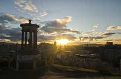 Sunset over Edinburgh Stock Photos