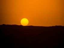 Sunset over the Egyptian mountains Stock Images