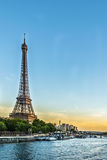 Sunset over the Eiffel Tower. Sunset in Paris over the Eiffel Tower Royalty Free Stock Photo