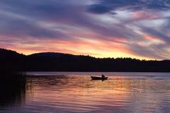 Sunset over Elk lake, Victoria, BC Stock Photo